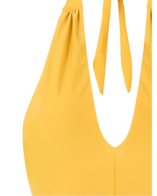 Adriana Degreas ホルターネック 水着 Yellow