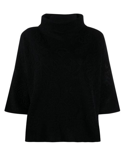 Etro ジャカード タートルネックセーター Black