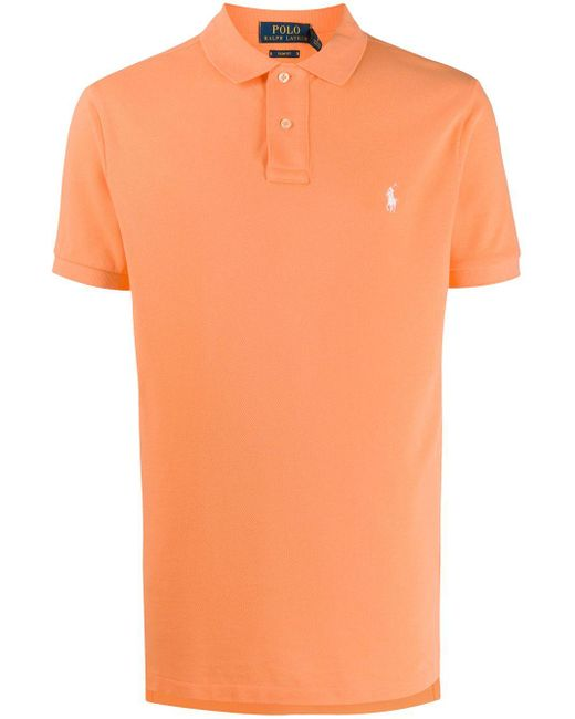 メンズ Polo Ralph Lauren ロゴ ポロシャツ Orange