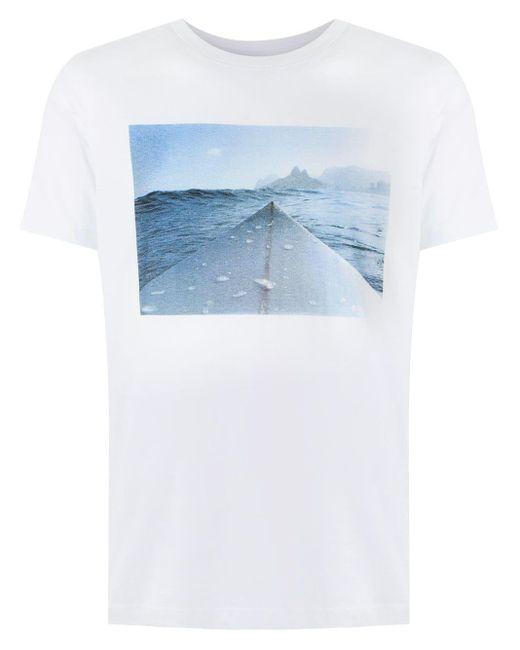 メンズ Osklen ストーン プリント Tシャツ Multicolor