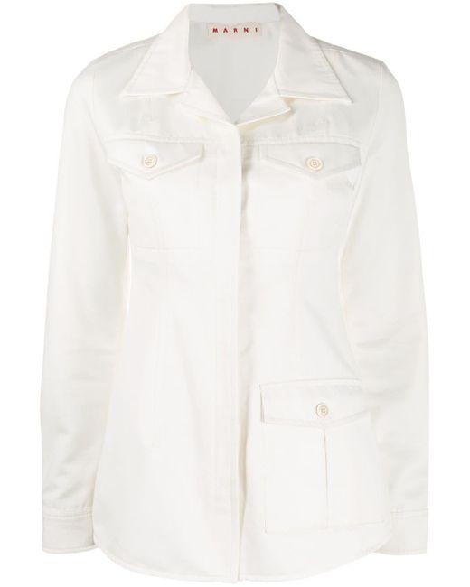 Marni フラップポケット シャツ White
