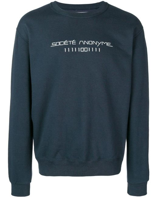 Societe Anonyme ロゴ スウェットシャツ Blue