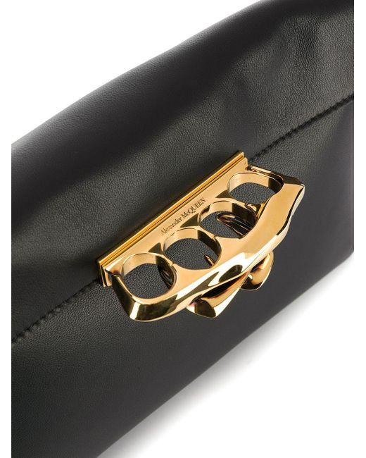 Клатч С Ручкой-кастетом Alexander McQueen, цвет: Black