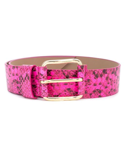 B-Low The Belt スネークパターン ベルト Pink
