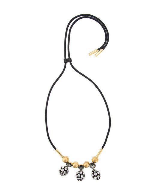 Marni | Black Strass Pendant Necklace | Lyst