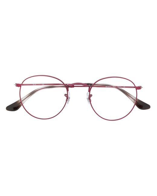 メンズ Ray-Ban ラウンド眼鏡フレーム Pink