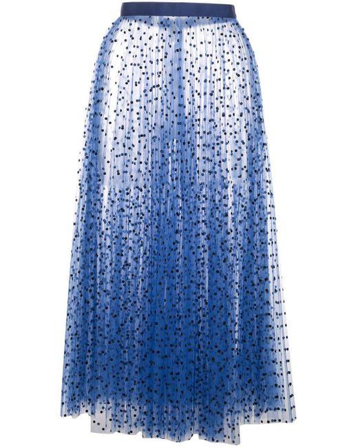 Khaite ドット チュール スカート Blue