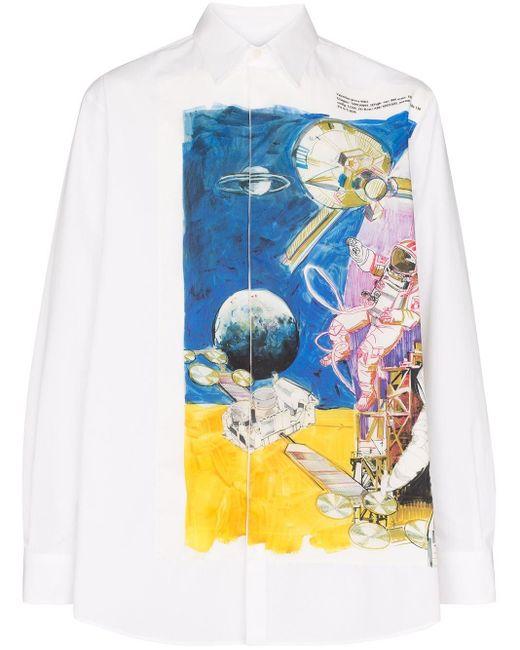 メンズ Valentino プリント シャツ Multicolor