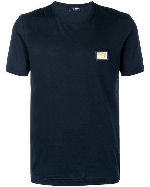 Dolce & Gabbana - Black T-Shirt mit Logo for Men - Lyst
