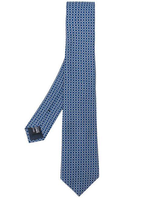 Giorgio Armani   Blue Printed Tie for Men   Lyst