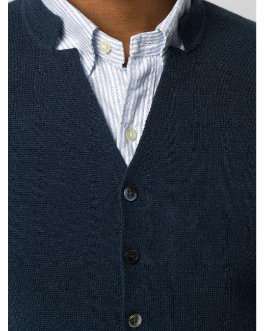 Кашемировый Жилет Milano С Воротником N.Peal Cashmere для него, цвет: Blue