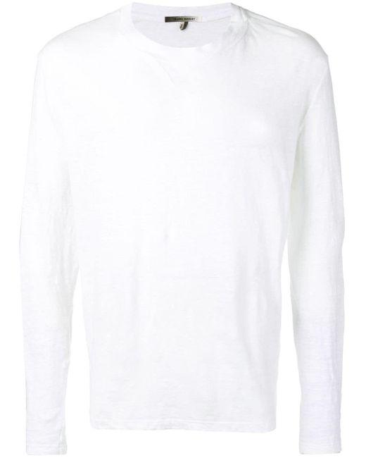 メンズ Isabel Marant ロングtシャツ White