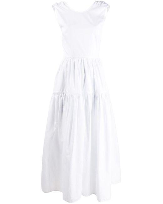 CECILIE BAHNSEN オープンバック ドレス White