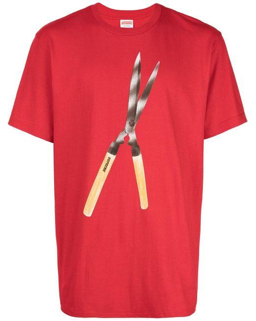 メンズ Supreme Shears Tシャツ Red