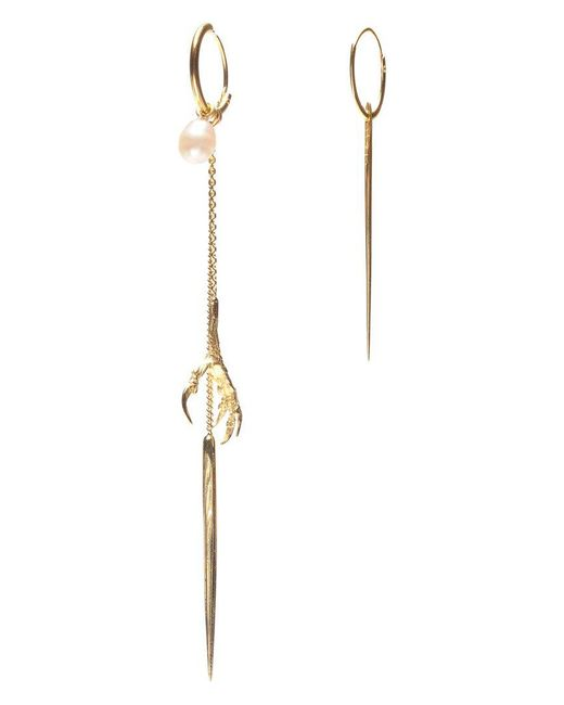 Wouters & Hendrix | Metallic 'spikes, Pearls And Claws' Set Of Earrings | Lyst