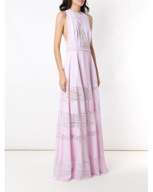 Martha Medeiros New レース ドレス Purple