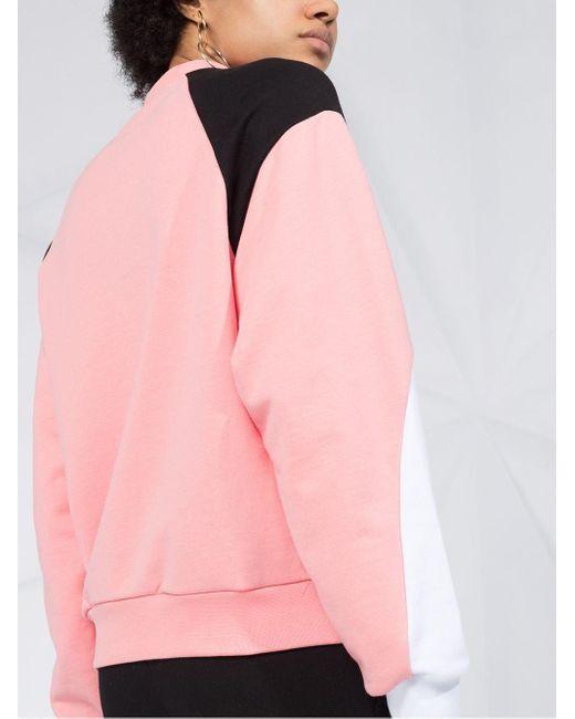 MSGM カラーブロック スウェットシャツ Pink