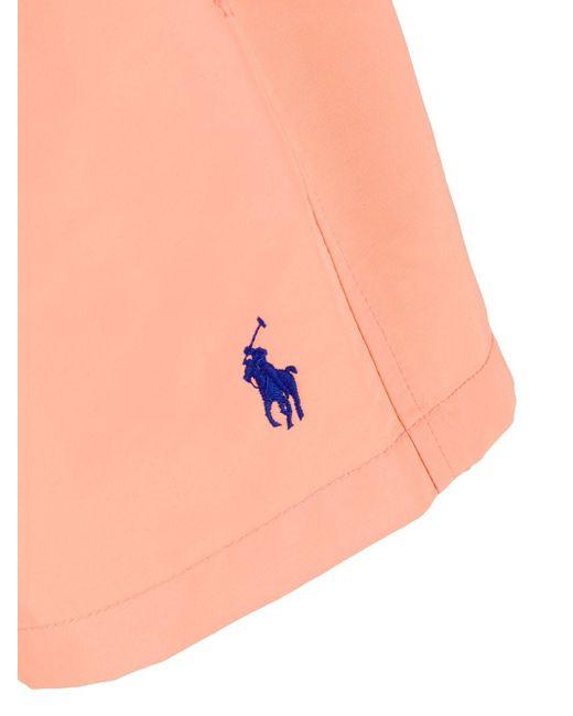 メンズ Polo Ralph Lauren ロゴ トランクス水着 Orange