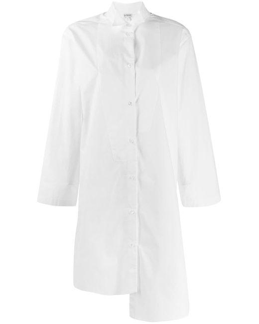 Loewe アシンメトリー ロングシャツ White