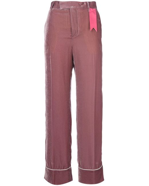 The Gigi アップリケ フレアパンツ Pink