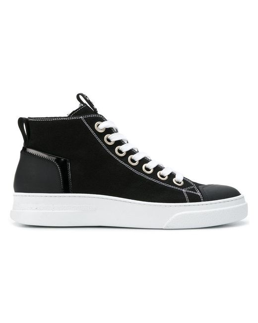 Bruno Bordese Black Lace-up High-top Sneakers for men