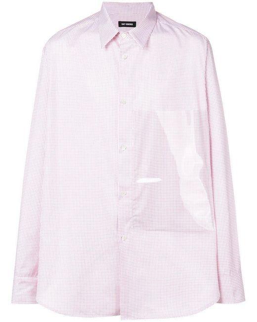 Raf Simons - Red Plastic Panel Shirt for Men - Lyst
