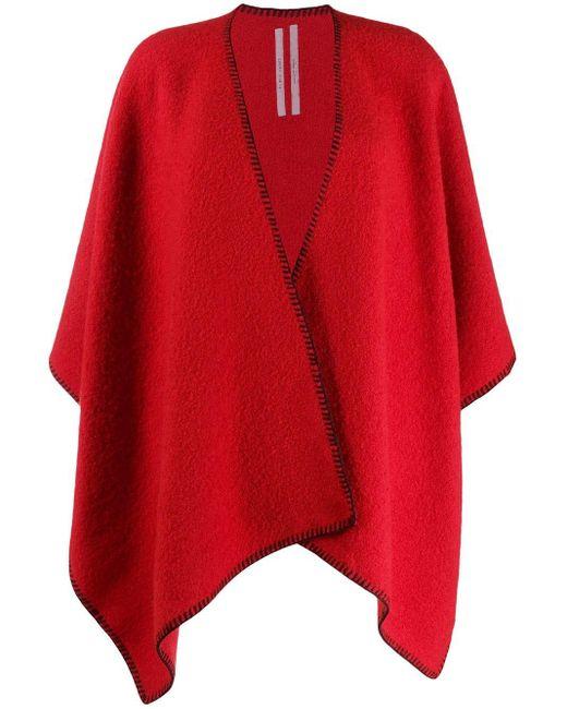 Rick Owens オーバーサイズ スカーフ Red