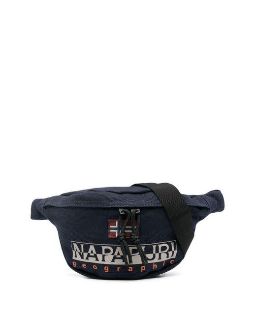 メンズ Napapijri ロゴ ベルトバッグ Blue