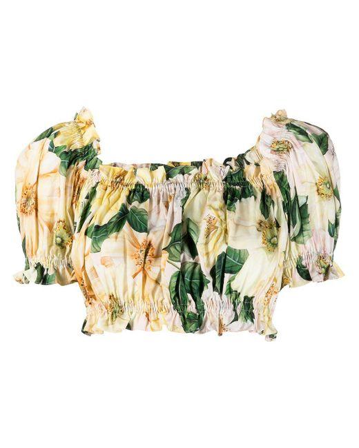 Top crop con spalle scoperte di Dolce & Gabbana in Yellow