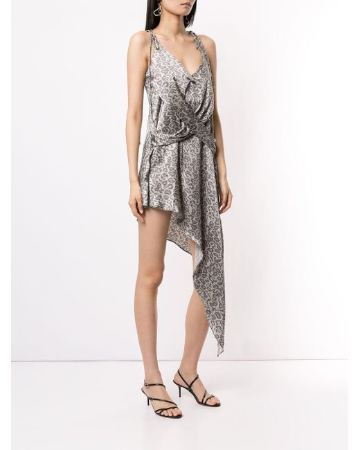 Strateas Carlucci Gray Camisole-Kleid aus Seide