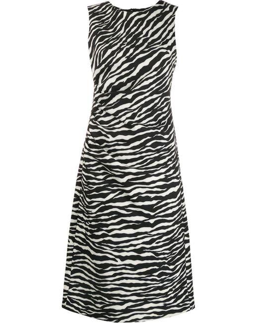 P.A.R.O.S.H. White 'Abito Zebra' Kleid