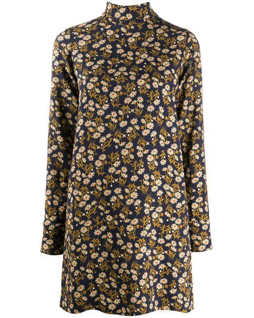 N°21 フローラル シフトドレス Blue