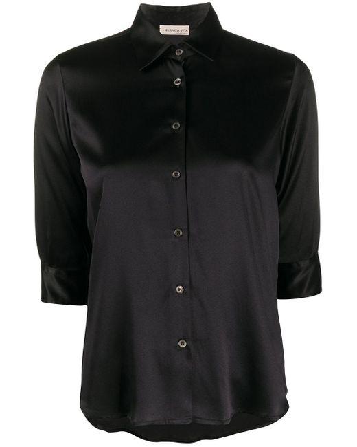 Blanca Vita Camilla シルクシャツ Black