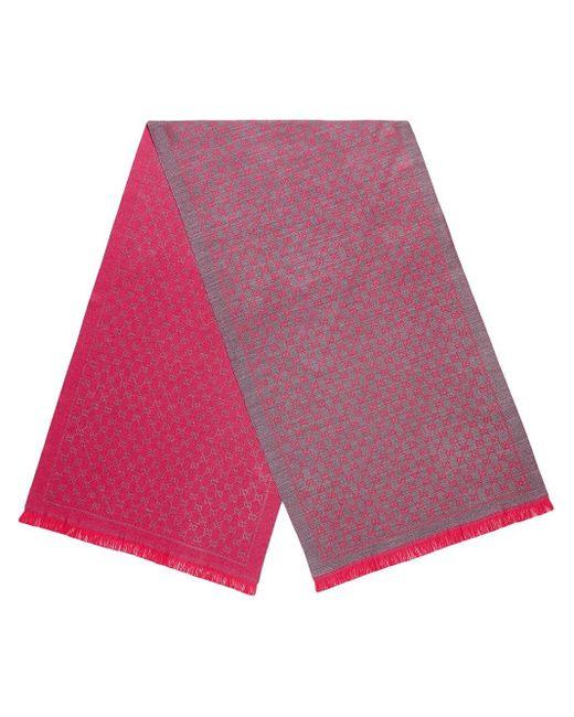 Gucci GGジャガード ウール スカーフ Purple