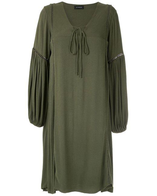 Vestito con maniche ampie Hagia di Olympiah in Green