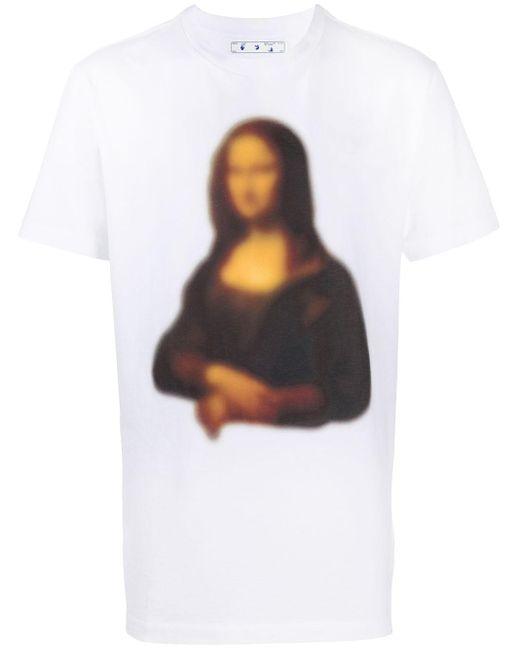 メンズ Off-White c/o Virgil Abloh プリント Tシャツ White