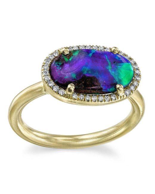 Irene Neuwirth - Metallic Blue Opal Ring - Lyst