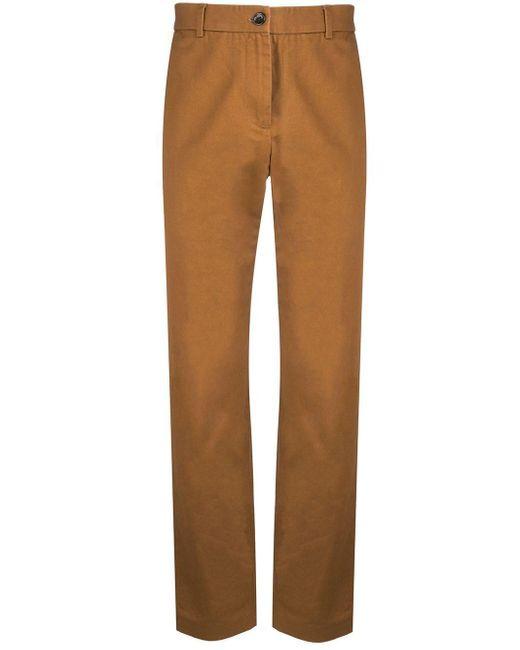 Брюки Чинос С Вышитым Логотипом Gucci для него, цвет: Brown