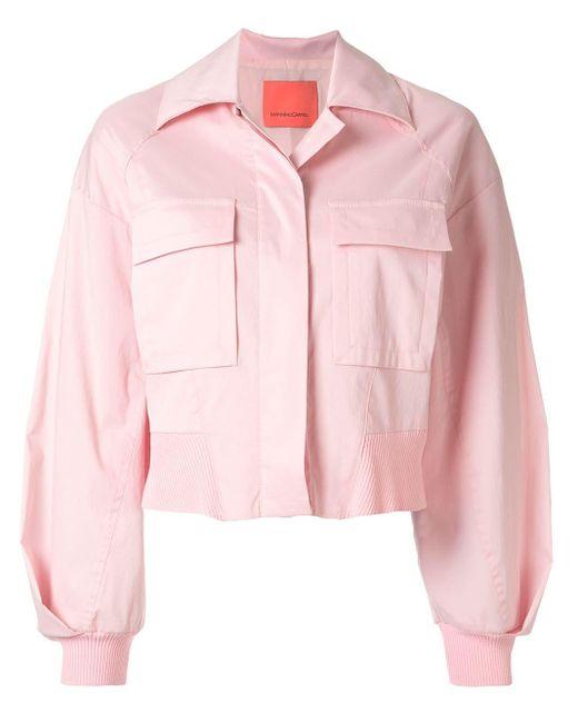 Manning Cartell クロップド シャツジャケット Pink