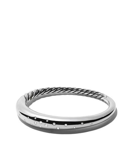 David Yurman - Metallic Pure Form Smooth Diamond Bangle - Lyst