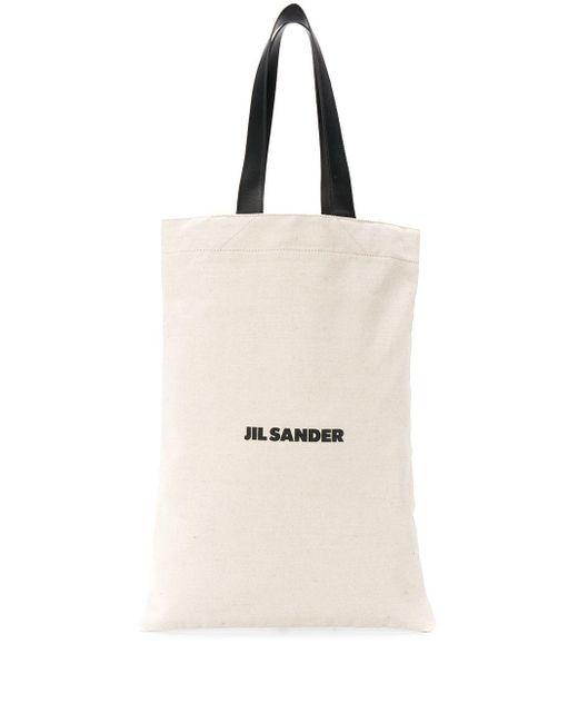 メンズ Jil Sander Ssense 限定 オフホワイト ミディアム Flat Shopper トート White