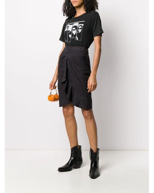 Ba&sh Susette フリルスカート Black