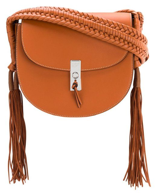 Altuzarra - Brown Tassel Flapped Shoulder Bag - Lyst