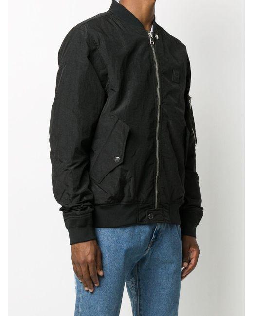 メンズ DIESEL メタリック ボンバージャケット Black