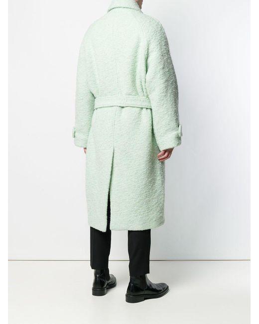 メンズ AMI Raglan Sleeves Belted Long Coat Green