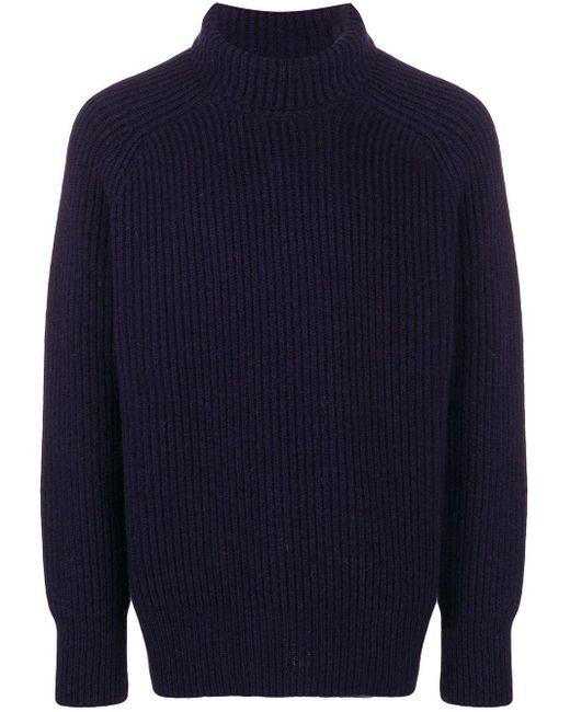 AMI タートルネックセーター Blue