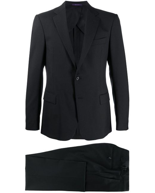 メンズ Ralph Lauren Purple Label ツーピース テーラードスーツ Black