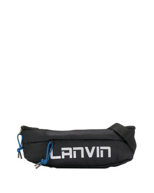 メンズ Lanvin ロゴ ベルトバッグ Black