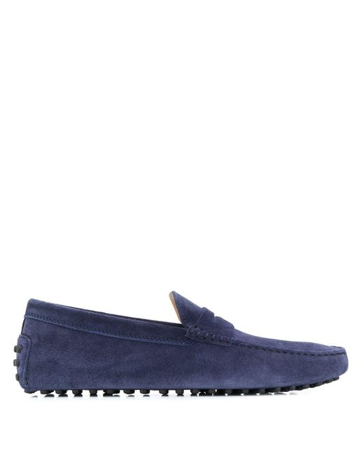 Мокасины City Gommino Tod's для него, цвет: Blue