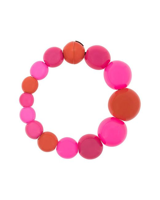 Monies ビーズ ネックレス Pink